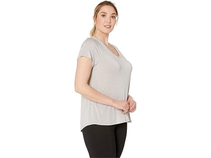 Prana Talla Grande Fundación Short Sleeve Top Light Grey Heher Shirts & Tops
