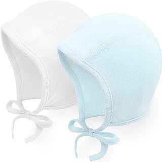 2 Pack Baby Hat Bonnet Soft 100% Combed Cotton Infant Toddler Beanie Pilot Caps