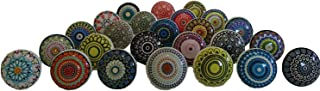 20 X Mix Vintage Look White Creame Creme grey colorful Mandala Ceramic Knobs Door Handle Cabinet Drawer Cupboard Pull by J...
