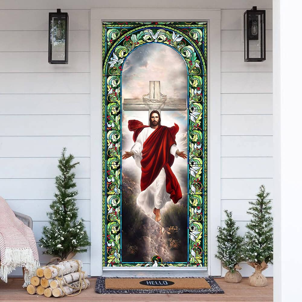 FLAGWIX Door Covers Printed-Jesus Christian 30