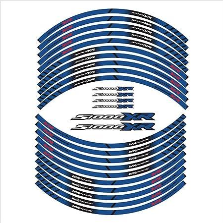 Psler Motorrad Felgenrandaufkleber Rim Stripes Aufkleber Für S1000xr Blau Auto