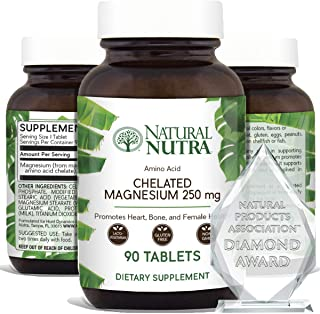 Natural Nutra Chelated Magnesium Oxide Supplement with Amino Acid Chelate for High Absorption, Promotes Healthy Bones, Den...