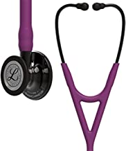 3M Littmann Cardiology IV Diagnostic Stethoscope, Smoke-Finish Chestpiece, Plum Tube, Smoke Stem and Headset, 27 inch, 6166