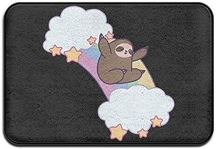 Rainbow Cloud Sloth Home Doormat Floor Mat Non-slip