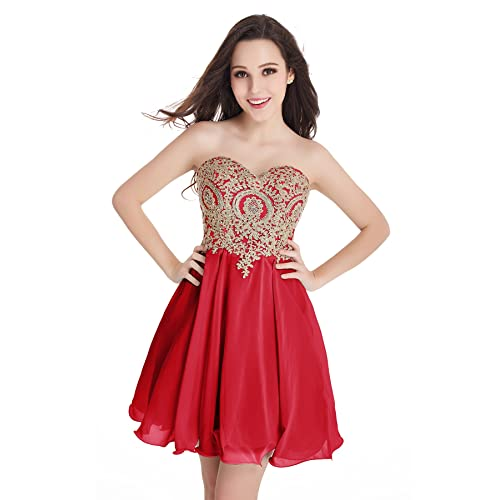 Red And Gold Prom Dresses Short Amazon Com