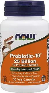 Probiotic -10 25 Billion (50 Cápsulas Veganas) Now Foods