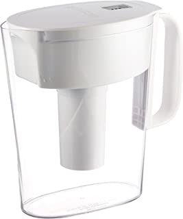 brita soho 5 cup water filtration pitcher in white
