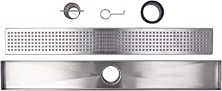 Linear Shower Drain Grate, Square Hole Pattern, 60-inch, 304-Grade Stainless Steel (18 Gauge), ICC-ES Certified (UPC)