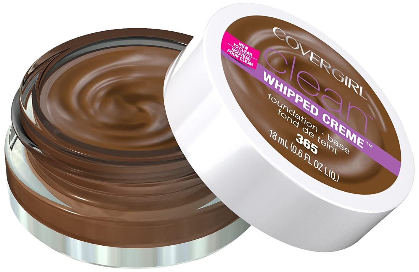 サーキュレーション絶望的な酸化物COVERGIRL CLEAN WHIPPED CRèME FOUNDATION #365 TAWNY