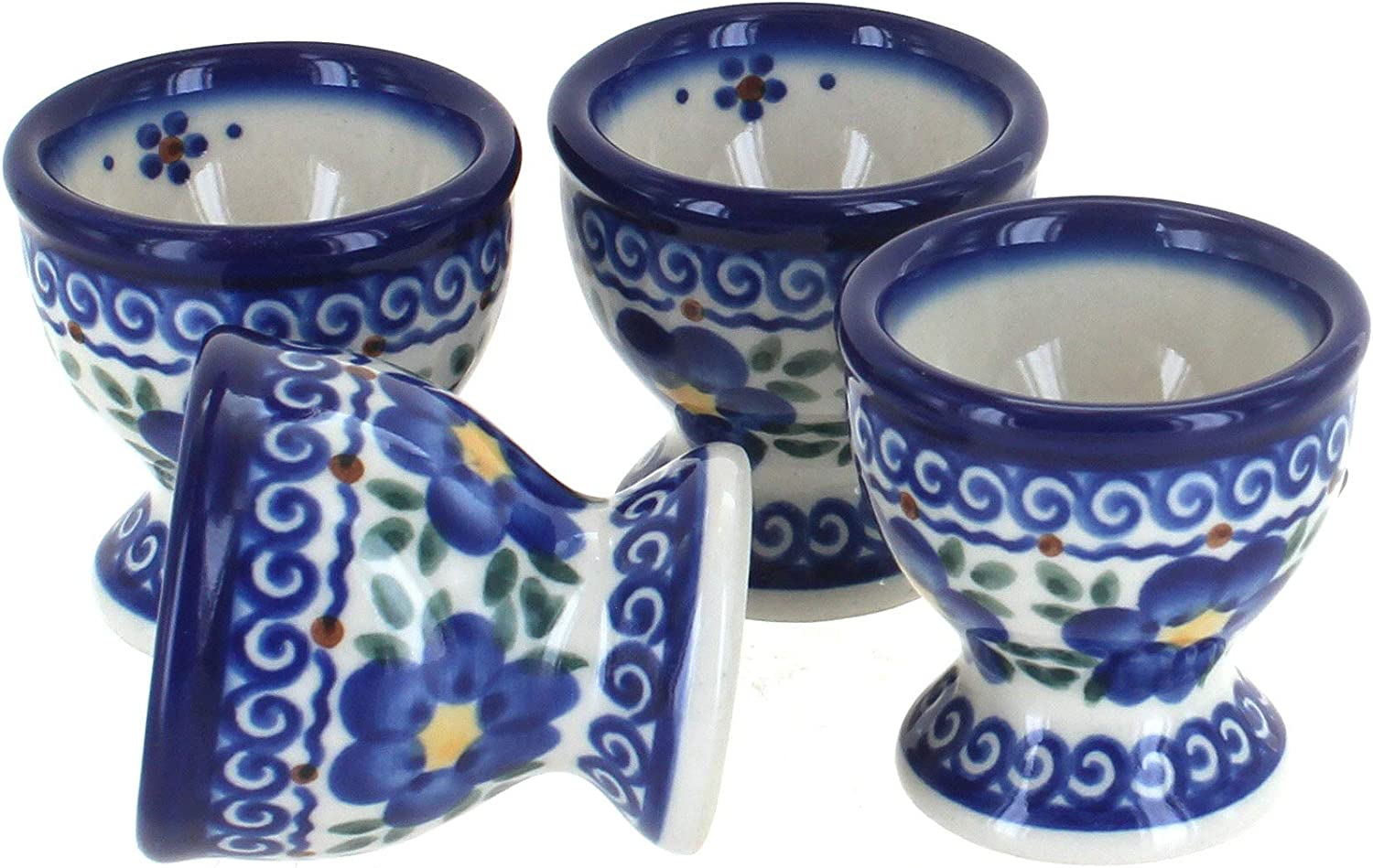 Blue Rose Polish Beauty products Pottery Spring Max 54% OFF Blossom PC Egg Set Cup 4