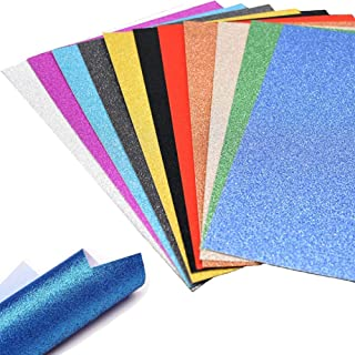 A4 Glitter Paper, 30 Sheets Glitter Self-Adhesive Sticker Sticky back Paper Craft Art Sparkling Sign Gemstone Metallic Color for Children's Craft Cutters Art Multicolor