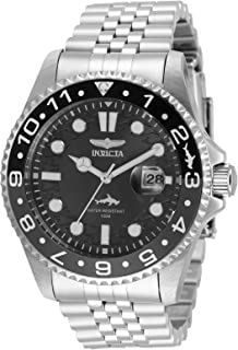 Invicta Men's Pro Diver Quartz Watch with Stainless Steel Strap, Silver, 22 (Model: 35129)