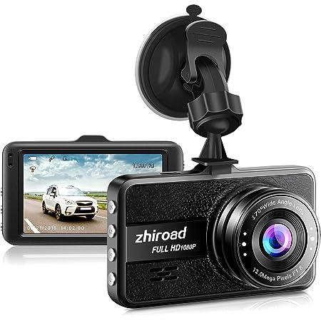 1080P Full HD 170 /° C/ámara de Tablero WiFi Dual para Autom/óviles Panel T/áctil OLED de 3.0 Pulgadas G-Sensor Detecci/ón de Movimiento Grabaci/ón en Bucle Visi/ón Nocturna C/ámara de Coche Dashcam