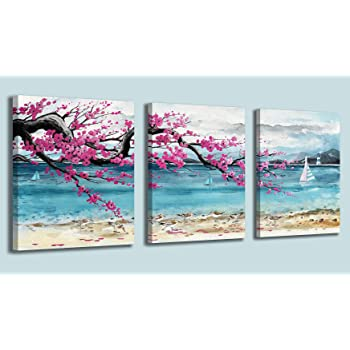 Wall Art Canvas Lighthouse Nautical Beach Home Decor Office 3 Pc Picture New