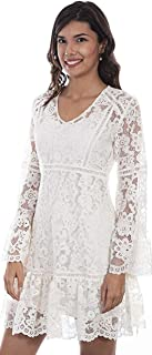 Scully Women's Honey Creek by Lace Crochet Long Sleeve Dress
