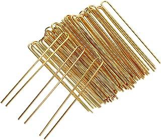 SUPVOX 50個U字型ヘアピンヘアフォーク女性用ヘアクリップスティック女性用ヘアアクセサリーDIY Craft(Golden)