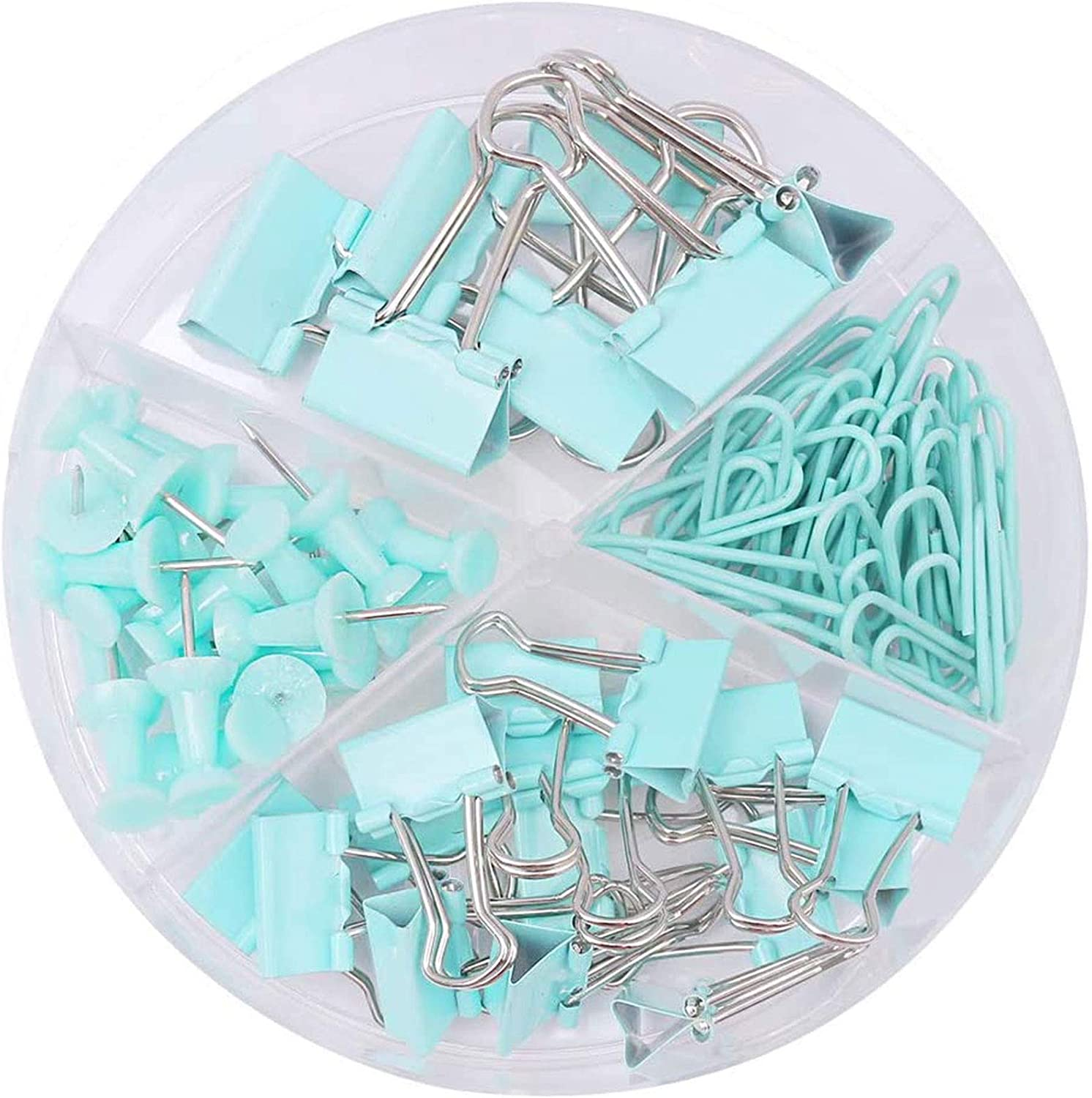 for Office and School Supplies 7pcs Medium Binder Clips, 15pcs Small Binder Clips, 30pcs Paper Clips, 20pcs Push Pins Binder Clips Paper Clips Push Pins Assorted