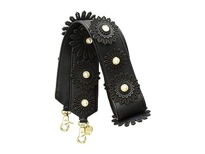 ZAC Zac Posen All That Jazz Floral Applique Strap Solid (Black) Wallet