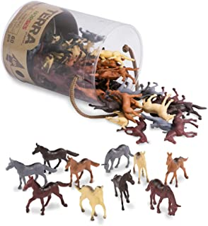 """Terra by Battat – Horses – Assorted Miniature Horse Toys & Cake Toppers For Kids 3+ (60 Pc), AN6038Z, 2"""", Multi"""