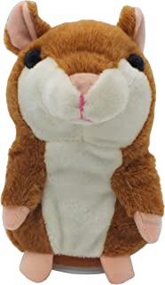 Plush Interactive Toys Electronic Pet Hamster Mimicry Pet Repeats What You Say Talking Plush Hamster Mouse for Kids Gift P...