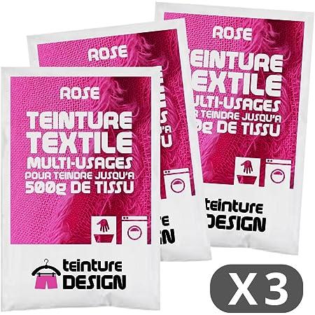 Set de 3 Bolsas de Tinte Textil – Rosa – Teintures universales para Ropa y Telas Naturales