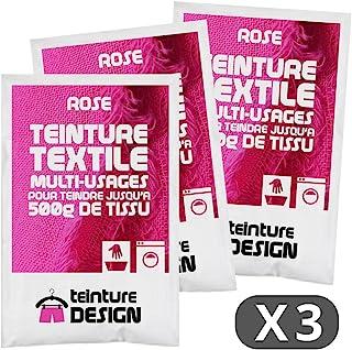 Set de 3Bolsas de Tinte Textil–Rosa