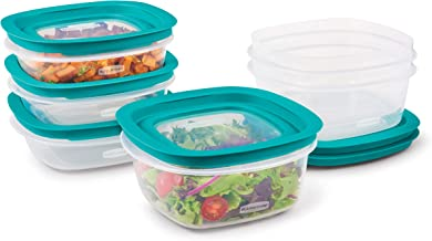 Rubbermaid EasyFindLids with Press & Lock Leak Proof Lids Food Storage Set, Meal Prep Containers, 12 Piece, Clear