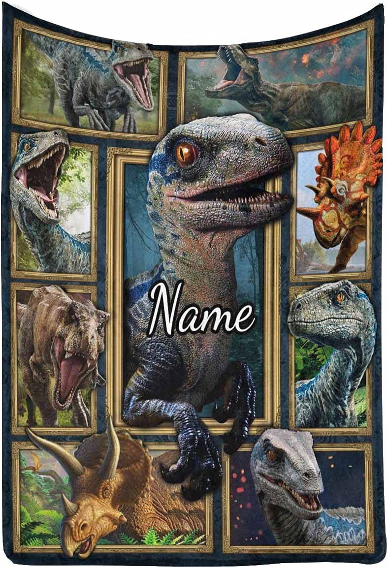 MyPupSocks Personalized Blanket Ancient Customiz Inventory cleanup 55% OFF selling sale Animal Dinosaur