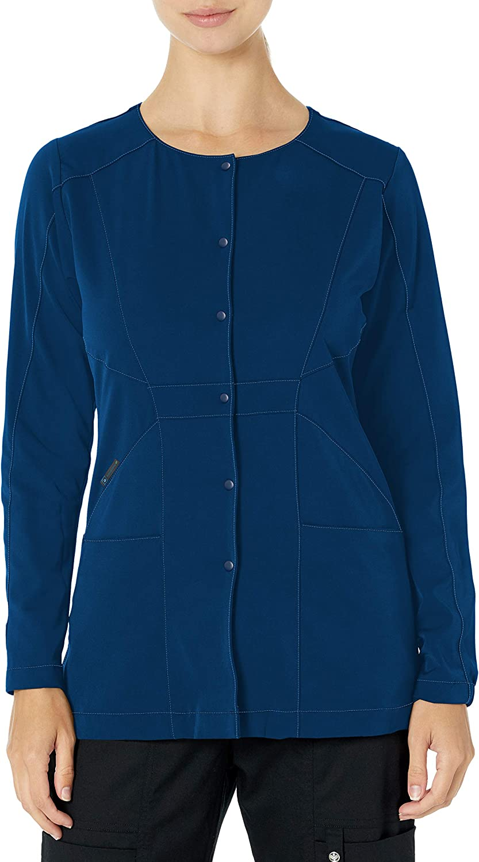 WonderWink Women's Hp Snap Front Scrub Jacket: Clothing