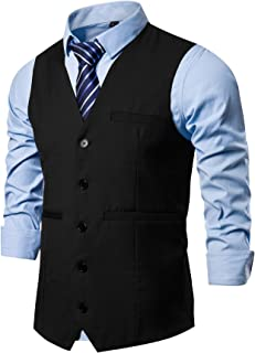 Mens Formal Suit Vest Business Dress Vest for Suit or Tuxedo