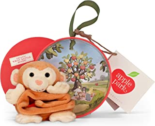 """Apple Park Picnic Pal Organic 4"""" Wrist Rattle, Monkey (Discontinued by Manufacturer)"""