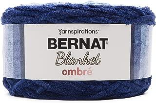 Bernat 16103636005 Blanket Yarn, Navy Ombre