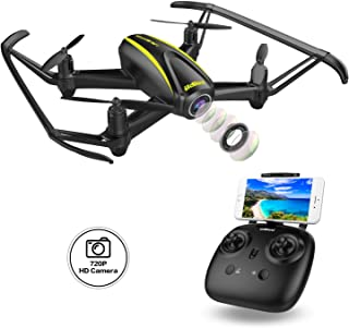 Beginners Best Choice,120 Degree Wide-Angle/3D View/Altitude Hold/Headless Mode/One Key Take Off/Landing/Emergency Stop/Beginners/Intermediate/Expert/Drone Gift