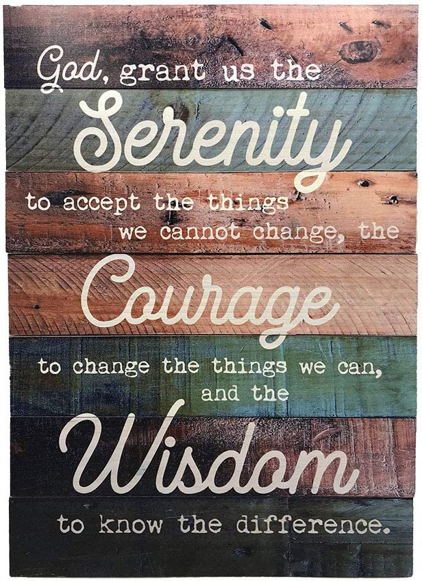 Rustic Serenity Prayer Don't miss Max 48% OFF the campaign Wall Decor - Si Wood Real