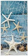 Starfish Seashell Tropical Beach Hand Towels 16x30 in Sea Ocean Marine Nautical Bathroom Towel Soft Absorbent Wooden Summe...