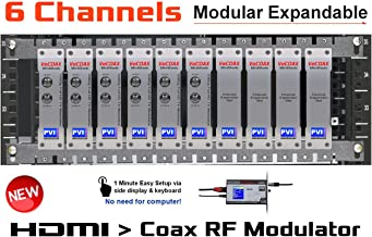 6 CHANNELS HDMI MODULATOR - VECOAX BLADE 6 - HDMI Video Distribution Over TV Coax Cables To All TVs in Every Room - FULL HD 1080p ENCODING with Dolby