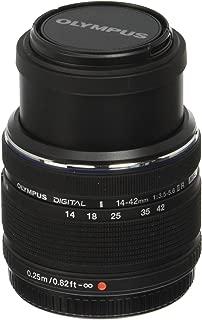 Olympus M.Zuiko Digital 14-42mm F3.5-5.6 II R Lens, for Micro Four Thirds Cameras (Black)