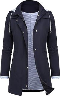 AUDIANO Rain Jackets Women Lightweight Raincoat Striped...