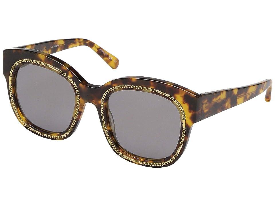 Stella McCartney SC0041S (Avana/Avana/Bronze) Fashion Sunglasses, Gray