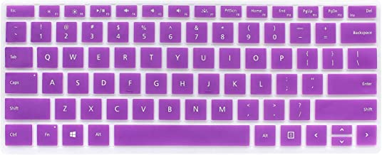 Masino Silicon Keyboard Cover Ultra Thin Protective Skin for Microsoft Surface Pro Signature Type Cover & Surface Pro Type Cover with Fingerprint ID 2017 Released (for Surface Pro 6, A- Purple)