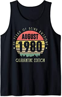 40 Years Being Awesome August 1980 Quarantine Edition Tank Top