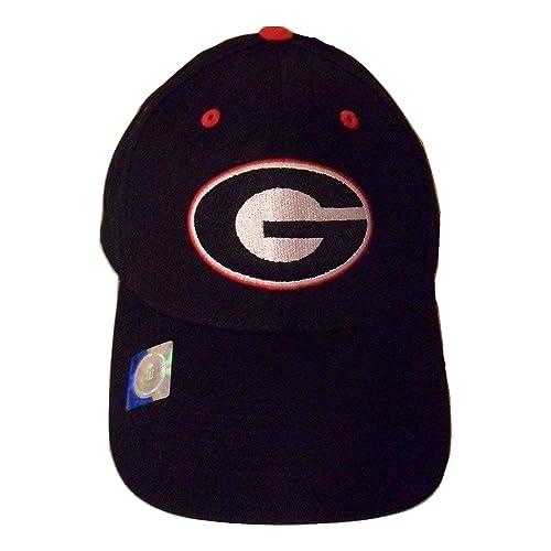 NCAA Georgia Bulldogs Structured Adult Black Logo Cap 413ff1f9190