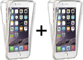 TBOC 2X Funda para Apple iPhone 7 - iPhone 8 [4.7] [Pack: 2 Unidades] Carcasa [Transparente] Completa [Silicona TPU] Doble Cara [360 Grados] Protección Integral Delantera Trasera