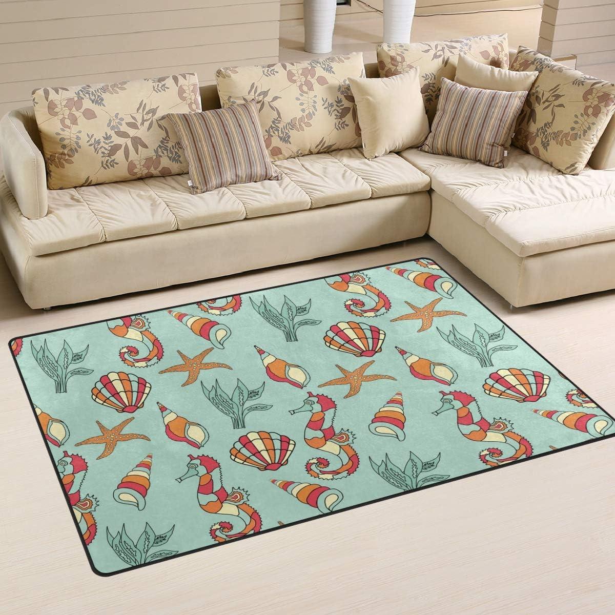 Ainans Seahorse Seashell Starfish Area Non-Slip Carpet Flo Free Shipping Cheap Bargain Gift Rapid rise Rug