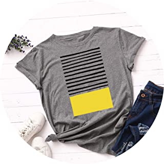 New Striped Print T Shirt Women Cotton O Neck Short Sleeve Summer T-Shirt Tops Casual Tshirt Women Shirts