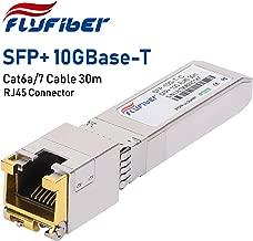 FlyFiber 10G SFP+ RJ45 Copper Module Transceiver 10GBASE-T for Ubiquiti UF-RJ45-10G, Reach 30m