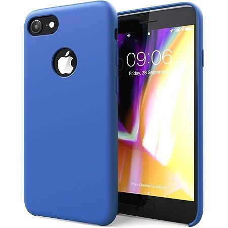 CELLONIC® Cover Compatible con iPhone 8 / iPhone 7 / iPhone SE (2020) Silicone Backcover Pelle Custodia Protezione Cover Silicone Nera Borsa Guscio ...