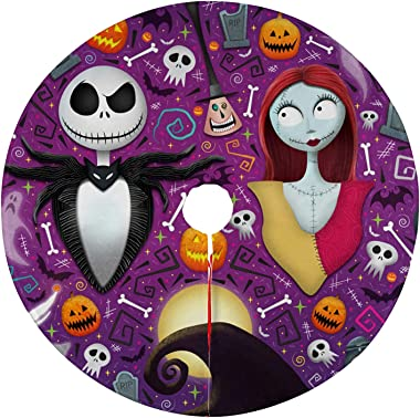Dead The Nightmare Before Christmas Tree Skirt Xmas New Year Holiday Decorations Indoor Outdoor 36 inch