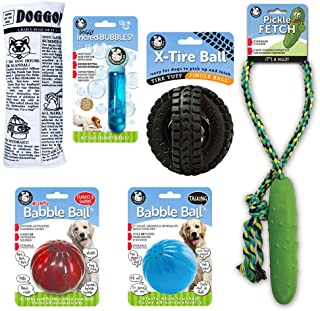 Pet Qwerks Interactive Toys Variety Value Pack | For Large Dogs | Set of 6 Treat Toy Assortment that Make Noise, Light Up,...