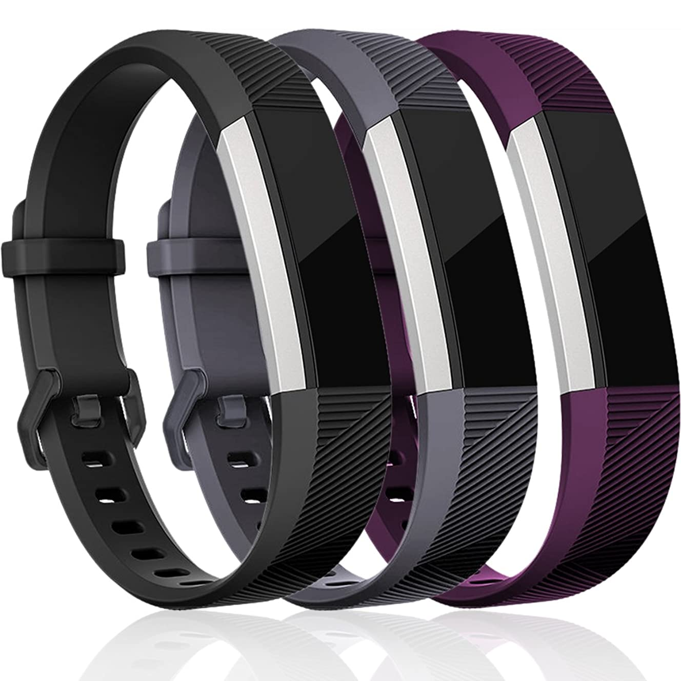 Maledan Replacement Bands Compatible for Fitbit Alta, Alta HR and Fitbit Ace, Classic Accessories Band Sport Strap for Fitbit Alta HR, Fitbit Alta and Fitbit Ace, 3-Pack, Women Men